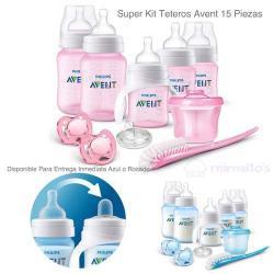 Super Kit Teteros Avent Anti Colicos Bebe Combo 12 Piezas