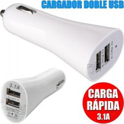 Cargador Auto Doble Usb 2.1a Para Iphone 4 Se 5 6 7 8 X Plus