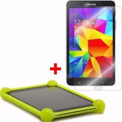 Combo Funda Silicona Samsung Tab 4 7 T230 Bumper + Templado