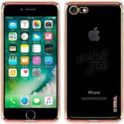 Funda Tpu Ultra Slim Fina Iphone 7 Y 7 8 Plus Bordes Metaliz