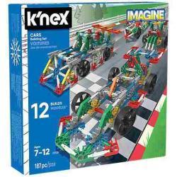 Knex Set De Construccion - Diseña Hasta 12 Autos Distintos!