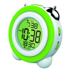 Reloj Despertador Coby Cbc-53 Verde Calendario 3 Alarmas