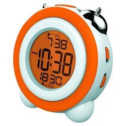 Reloj Despertador Coby Cbc-53 Naranja Calendario 3 Alarmas
