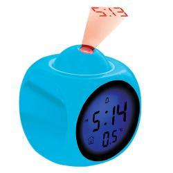 Reloj Despertador Coby Cbc-54 Azul Lcd Proyección Func. Voz