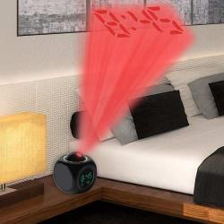 Reloj Despertador Digital Alarma Proyeccion Hora Ovalada
