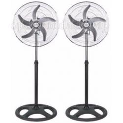 Ventilador 5 Aspas 3 En 1 Pared Piso Y Pie - Pack X 2 U