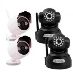 Kit Camaras Seguridad X4 Ip P2p Wifi Vision Nocturna Hd Movi