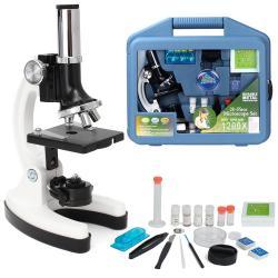 Kit De Microscopio + Accesorios Para Niños + Maletin 1200x