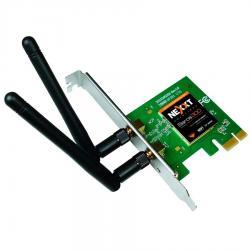 Placa De Red Wifi Nexxt Pci-e Saros 300 Mbps 2 Ant Envío