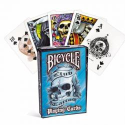 ¡ Juego Cartas Bicycle Club Tattoo Blue Azul Cards Baraja !