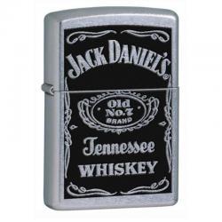¡ Encendedor Zippo Stamped Jack Daniels No7 Plateado !!