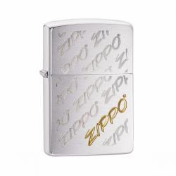 ¡ Encendedor Zippo Texture Brand Gold Plata Slv !!