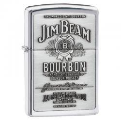 ¡ Encendedor Zippo Texture Jim Beam Bourbon Chrome Silver !!