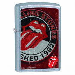 ¡ Encendedor Zippo Stamped Rolling Stones Rojo Plateado !!