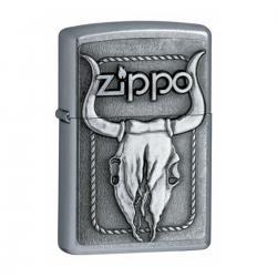 ¡ Encendedor Zippo Texture Skull Bull Búfalo Craneo Silvr !!