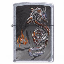 ¡ Encendedor Zippo Stamped Triptych Dragon 3 Nuevo Negro !!