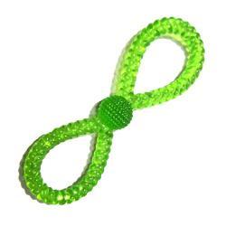 ¡ Juguete Tpr Verde Translúcido En 8 Con Bola Mascota !!