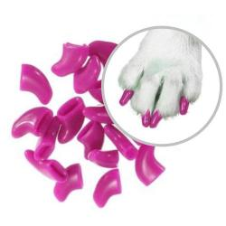 ¡ Protector De Uñas T. Xs Para Gatos Fucsia Nails Caps !!