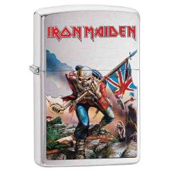 ¡ Zippo Stamp Iron Maiden Trooper 29432 Brushed Chrome !!