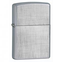 ¡ Zippo Classics Linen Weave Chrome 28181 - Plateado !!