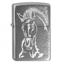 ¡ Zippo Texture Horse Caballo 29456 - Plateado !!