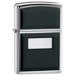 ¡ Zippo Classics Ultralite Emblem Style 355 - Plata Negro !!