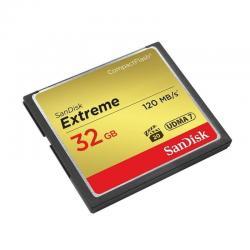 Tarjeta Compact Flash 32gb Sandisk Extreme, Vpg-20, 120mb/s