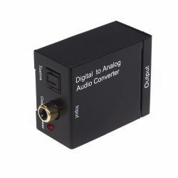 Adaptador De Audio Digital Óptico/coaxial A Análogo Rca