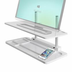 Mesa Elevafácil Ajustable Para Pc All-in-one/monitor, Blanco