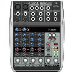 Si buscas Mixer Behringer Xenyx Q802 Usb Mezclador Consola Microfonos puedes comprarlo con DRACMA STORE está en venta al mejor precio