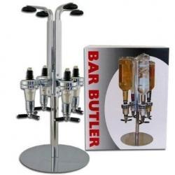 Dispensador Licores 4 Botellas Bar Licorera Carrusel