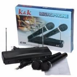 Si buscas Set 2 Micrófonos Inalambricos Profesionales Karaoke At-306 puedes comprarlo con MCKTOYS está en venta al mejor precio