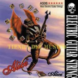 3 Encordados Alice A506 Para Guitarra Electrica En Acero