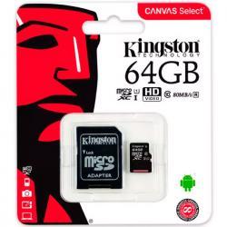 Si buscas Memoria Microsd Xc 64gb Kingston Clase10 Sdcs/64gb puedes comprarlo con VENTRONIC está en venta al mejor precio