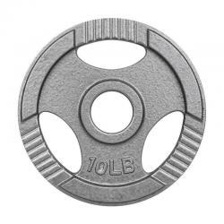 Disco Para Barra Olimpica Pesas 10 Lbs Metal Agarradera Gym