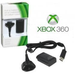 Kit Carga Y Juega Xbox 360 + Horas 4800 Mah Cable Y Batería