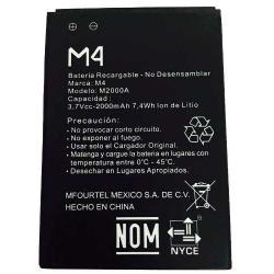 Bateria Pila M4 Ss1070 2000mah M2000a 3.7vcc 7,4wh