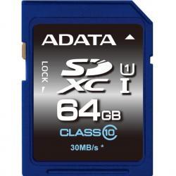 Memoria Sd Xc Adata 64gb Uhs-i Clase 10 Ultra Rapida 30mb/s
