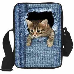Bolsa Mariconera De Hombro O Mano Gato Para Mujer H6022