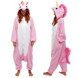 Pijama Mameluco De Unicornio Cosplay Color Rosa H8086
