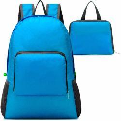 Mochila Plegable Impermeable De Viaje Azul M2980