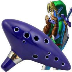 Ocarina De Ceramica Zelda 12 Agujeros Con Estuche H8082
