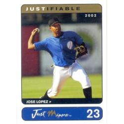 Barajita Jose Lopez Just Minors Gold Mariners 2002 # 23