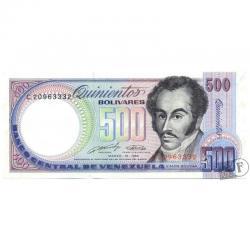 Difícil Billete De 500 Bolívares Marzo 16 De 1989 Serial C8
