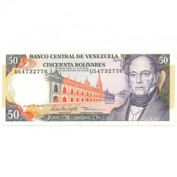 Billete De 50 Bolívares Junio 5 De 1995 Difícl Serial U8