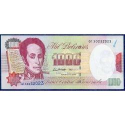 Billete De 1000 Bolívares De Agosto 6 De 1998 Serial Q9