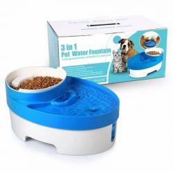 Fuente De Agua Electrica + Comedero Gatos Perros / Fernapet