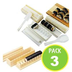 Pack 3 Maquina Sushi Grande 11 Piezas Roll 50218 / Fernapet