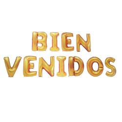 Globo Bienvenidos Letra Dorada Fiesta 41110 / Fernapet