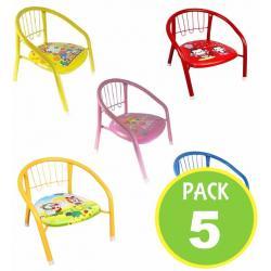 Pack 5 Silla Niños Metalica Sonido Colores 67029 / Fernapet